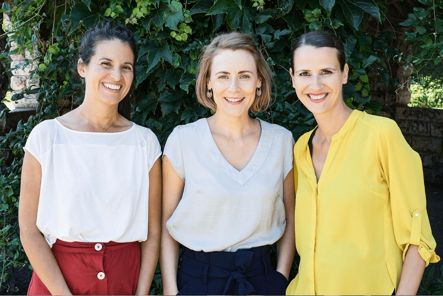 Gruppenfoto Kathrin Thiel, Sonia Kessler-Scheil, Elise Buntebart